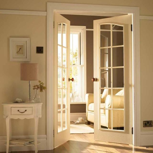 French Door to TV Room traditional-interior-doors