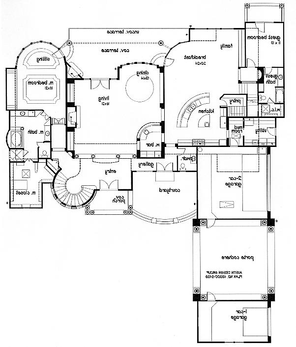 Porte cochere house plans with interior photos for Porte cochere house plans