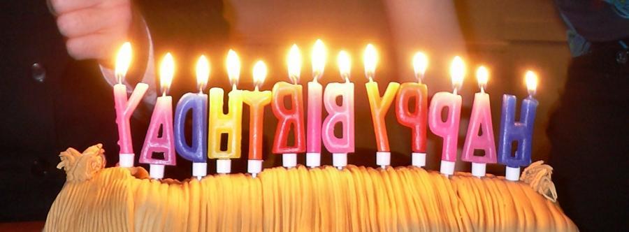 happy birthday candles photo
