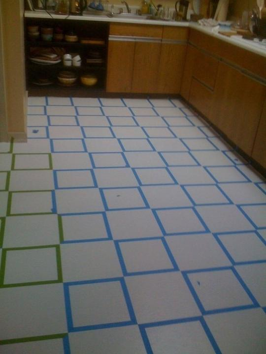 Applying photos to ceramic tiles for Painting over vinyl floor