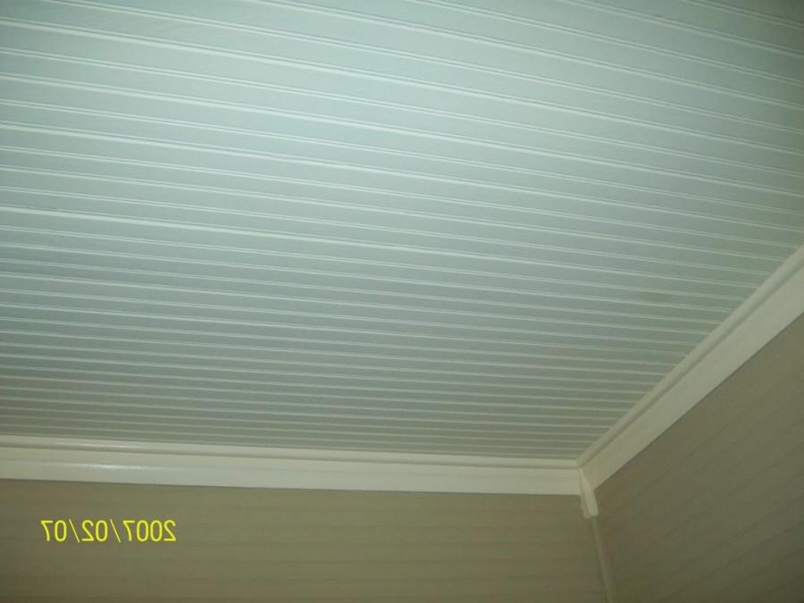 ceiling after caulk/painting