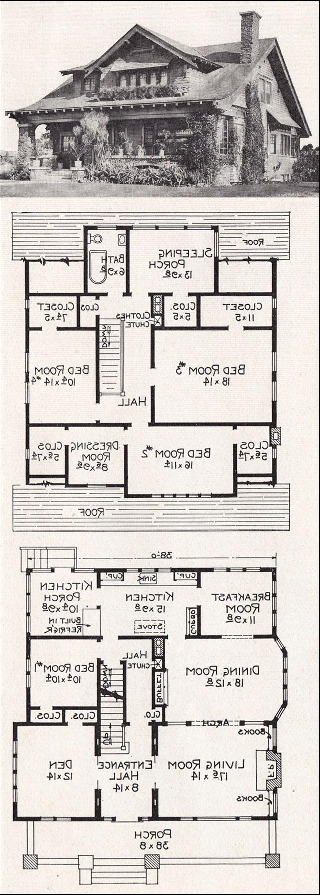 Craftsman Bungalow House Plans With Photos: california bungalow floor plans