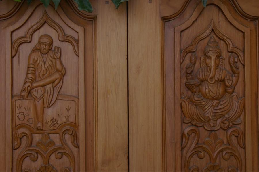 Ganesh Photo On Main Door