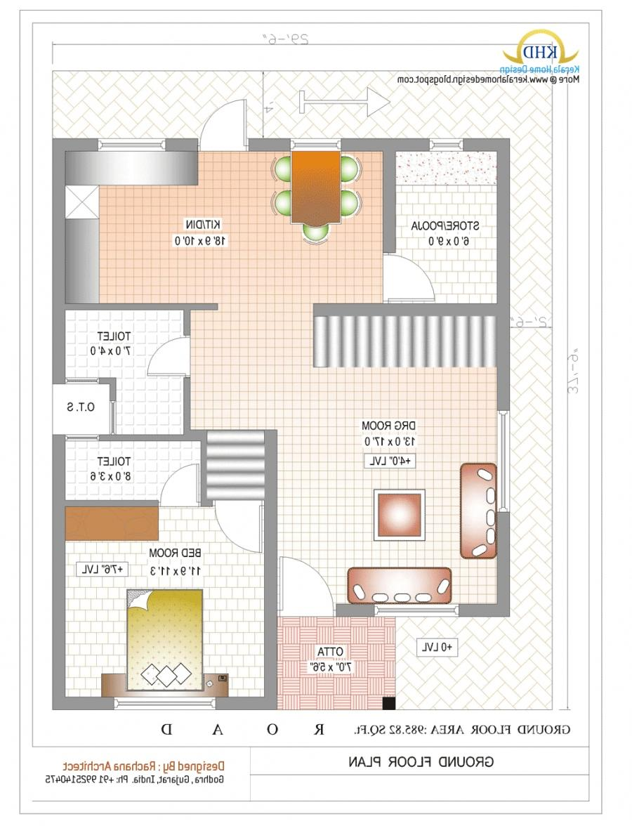 South indian duplex house plans with photos for Duplex house plans gallery