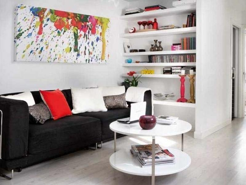 exciting living room small house interior design ideas white...