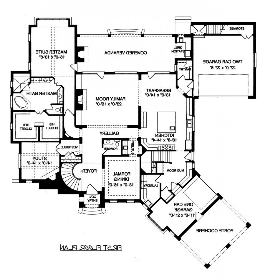Porte Cochere House Plans With Interior Photos