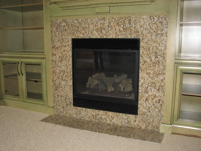 Fireplace photo tile