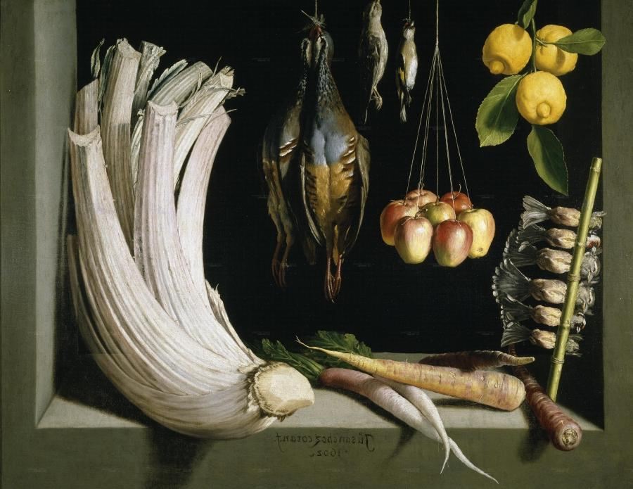 Juan Sanchez Cotan, Still Life with Game Fowl, Vegetables and...