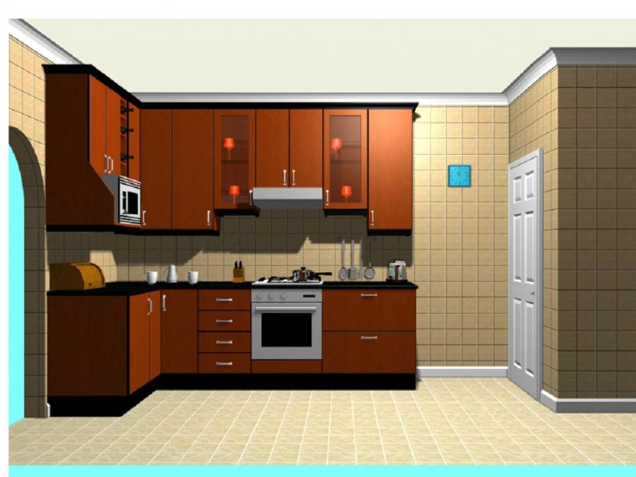 ... Kitchen:Small Kitchen Design Interior With Wooden Kitchen...