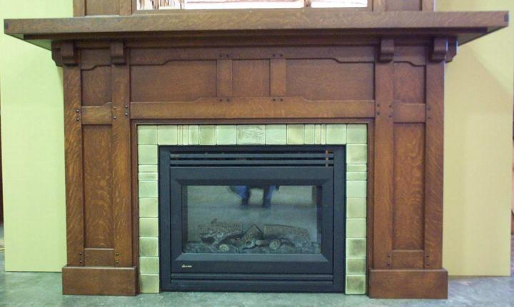 Craftsman fireplaces photos for Craftsman fireplace pictures
