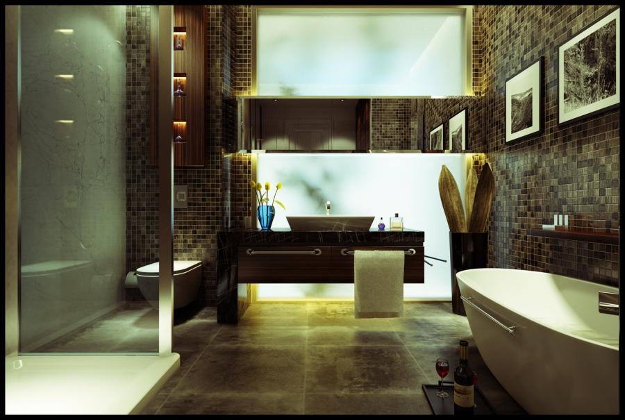 Bath photo room for Simple master bathroom designs