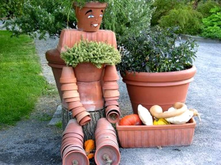 Outdoor flower pot arrangement photos - Unusual planters for outdoors ...