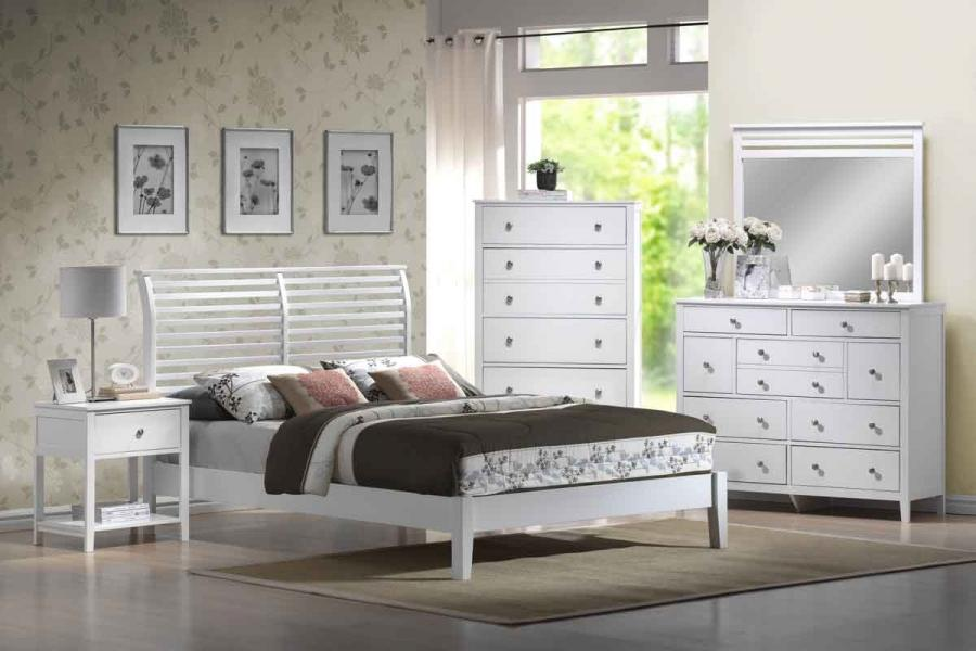 Eye Catching Dio White Bedroom Set