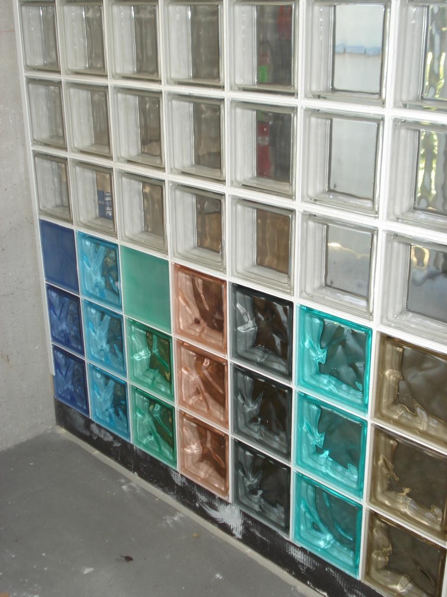 Glass brick shower photos