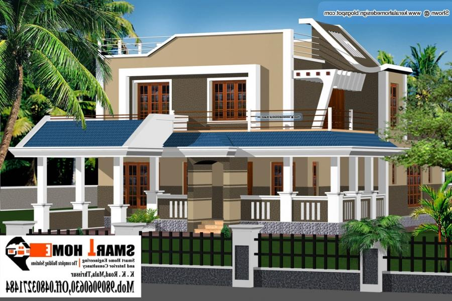 Kerala House Plans With Elevation Photos on August 2010 Kerala Home Design And Floor Plans