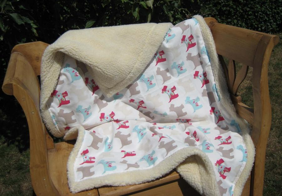 how to make a quilted dog blanket