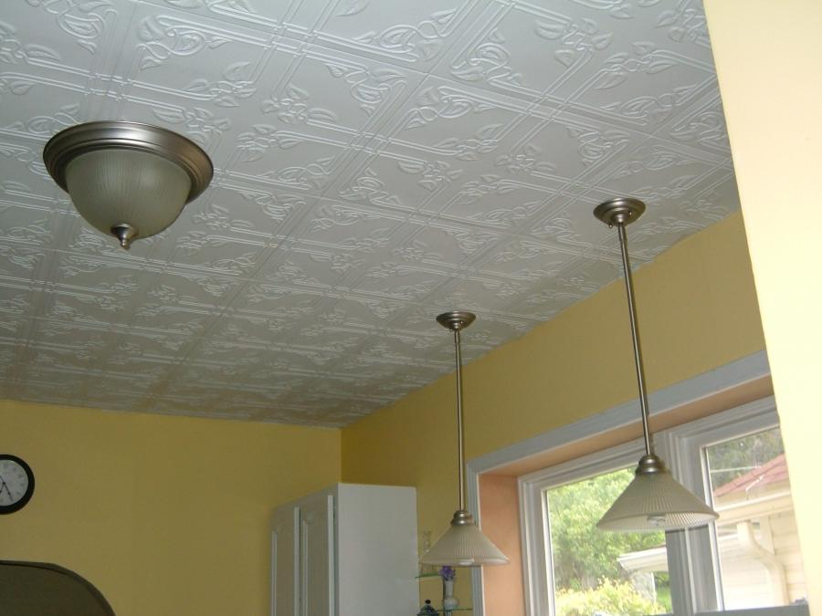 Why splurge on overpriced tin ceiling tiles when you can get a...