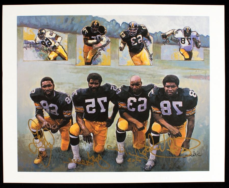 Pittsburgh Steelers u201cSteel Curtainu201d 15x12 Signed Print