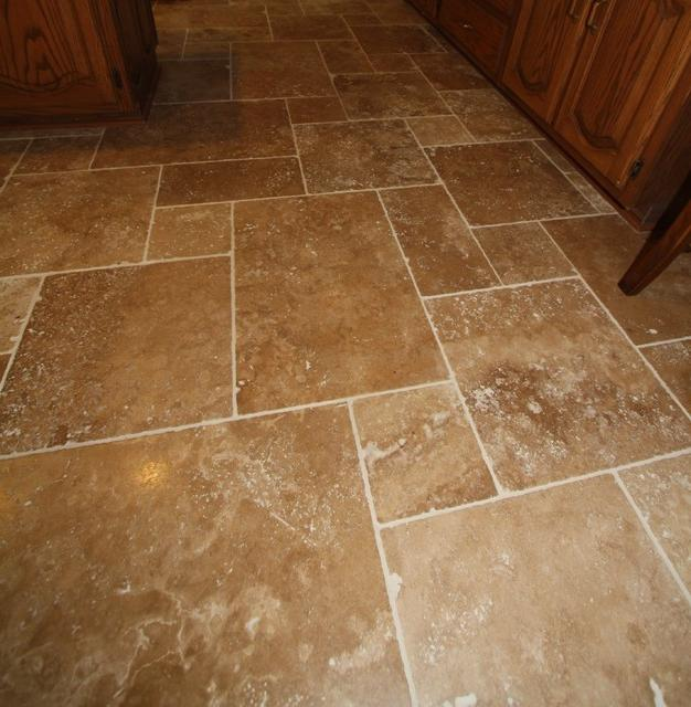 Travertine Tile Floor - Tile by Architectural Justice