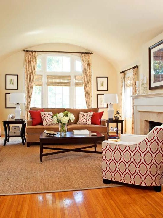 Warm cozy living room photos for Cozy living room colors