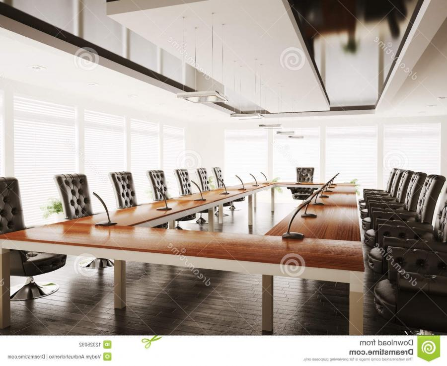 Conference room interior 3d render
