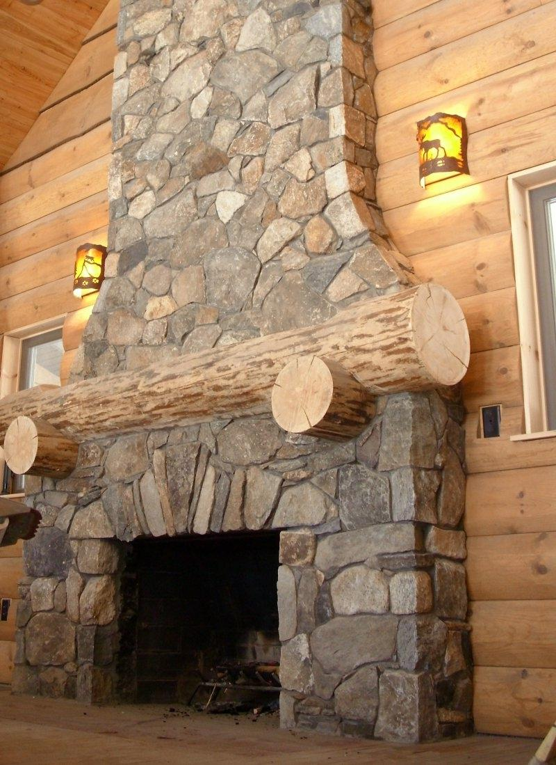 Fieldstone Fireplace Photos
