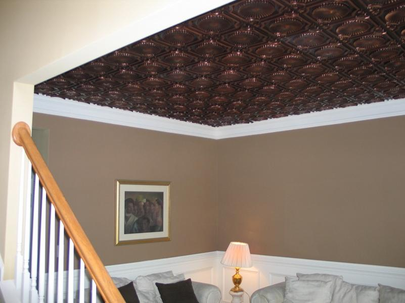 Metal tile ceiling