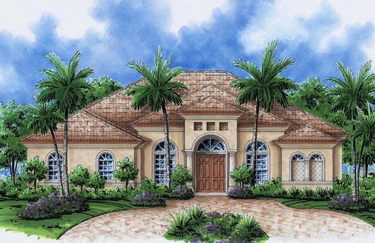 Mediterranean style house plans with photos for Florida mediterranean style homes