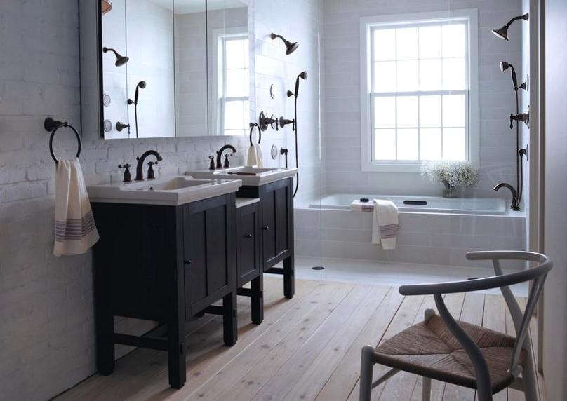 Bathroom black and white ideas