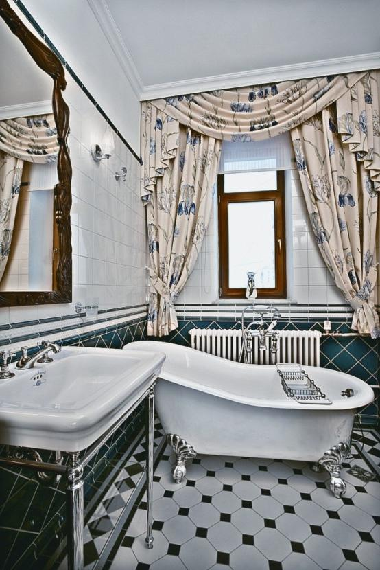 Art deco bathroom photos for Art nouveau bathroom design