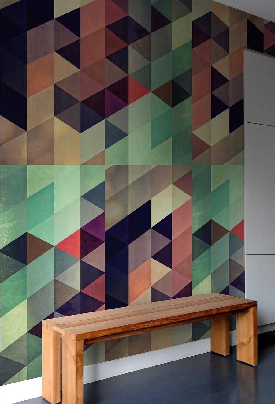 How to creat photo tiles for Geometric accent wall