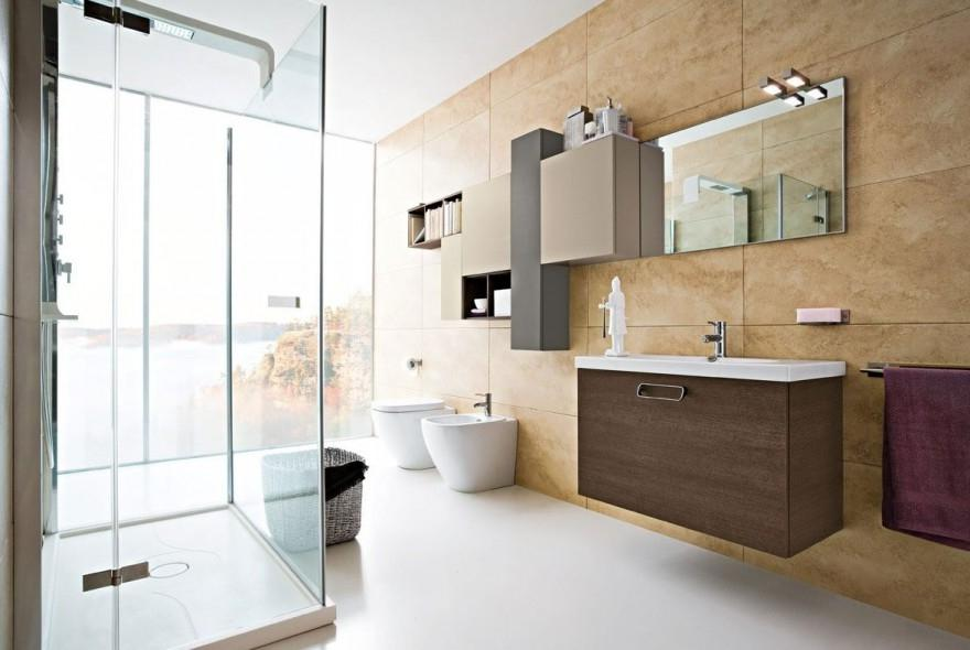 Modern Bathroom Design With Cool Plan