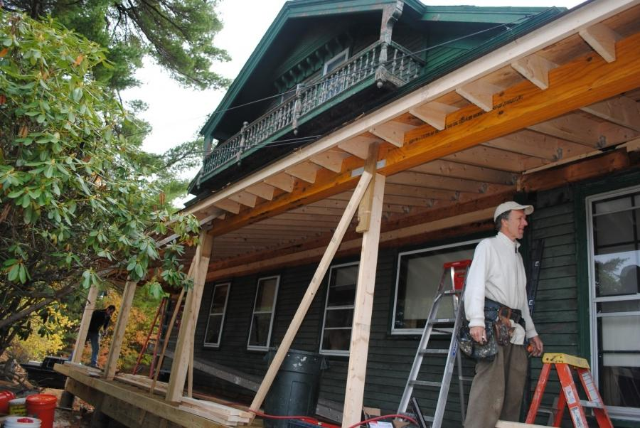 The Big House Blog: The porch roof goes on source