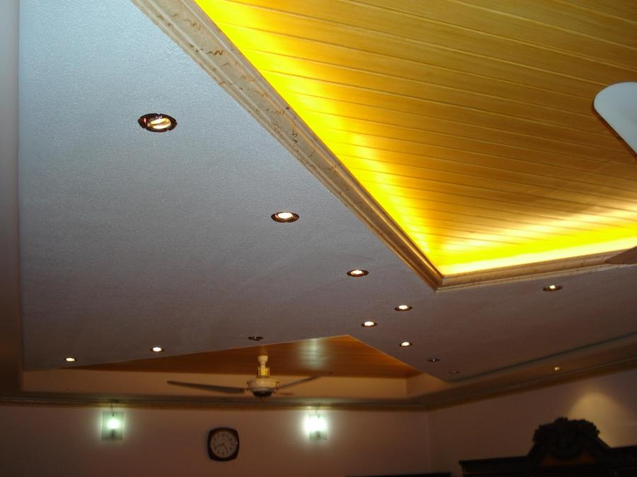 False ceiling design with yell.