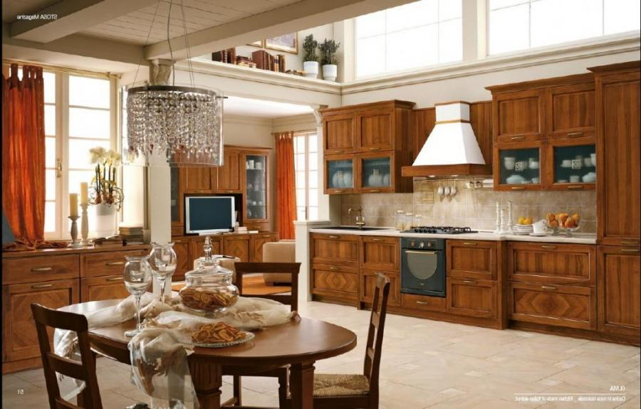 Elegance Ornament For Impressive Old Style Kitchen Design With...