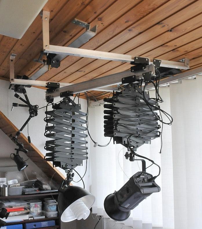 Studio Lighting Rail System: Ceiling Rail System Photography