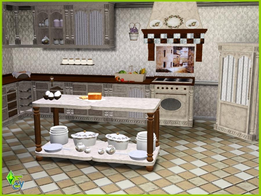 DOWNLOLAD FRENCH ROMANCE KITCHEN (Sims3 pack format)