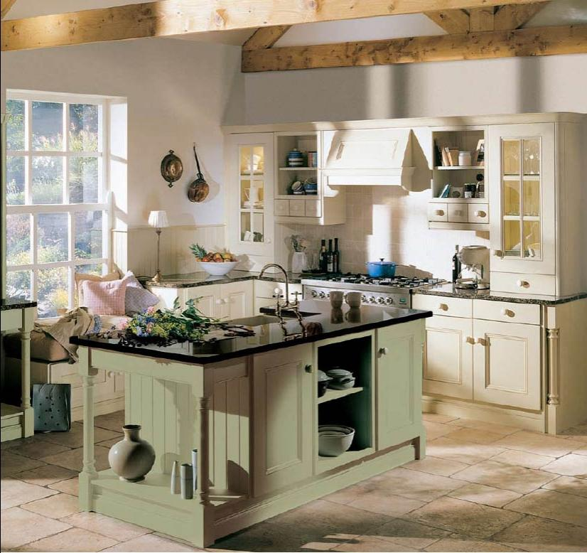 Small cottage kitchen designs photo gallery for Green country kitchen ideas