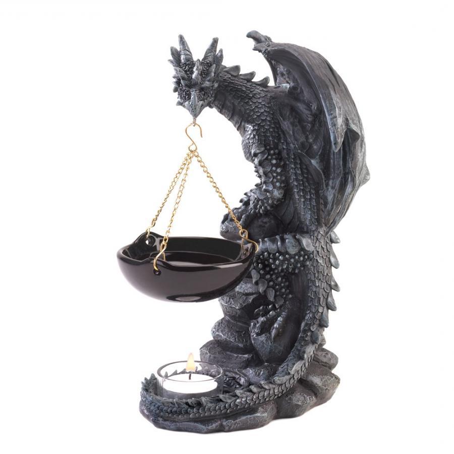 Burner candle dragon frame gift oil photo sword wizard - Dragon oil warmer ...