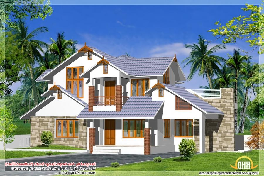 Kerala model house elevation photos for Dream home kerala