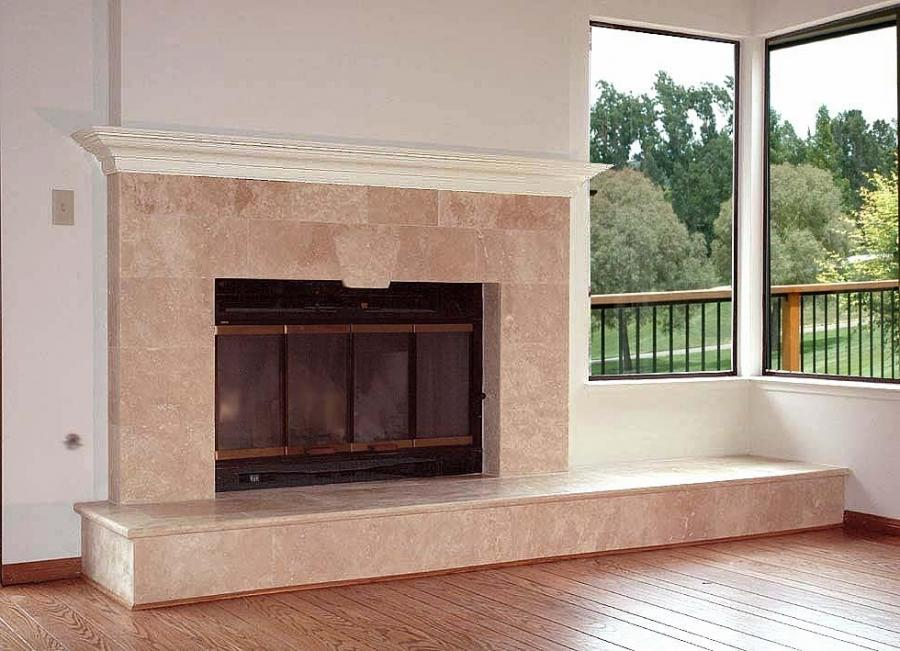 photos refaced brick fireplaces