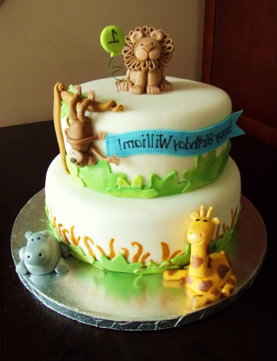 Birthday cake photo decoration
