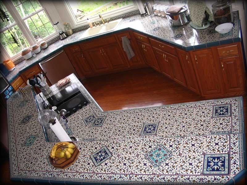 counter kitchen photo tile top