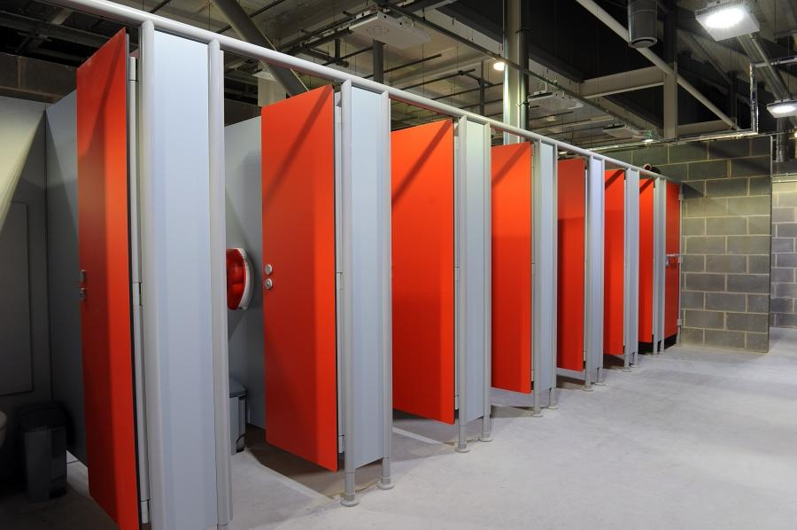 Changing room and Cubicle Doors - Compact Grade Laminate panels
