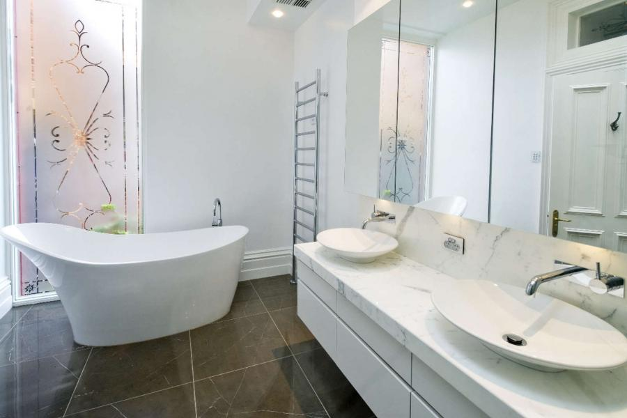 White Bathroom Remodel Design Design