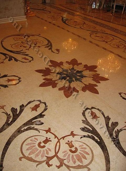 Marble floor design offers an elegant and lavish flooring option...