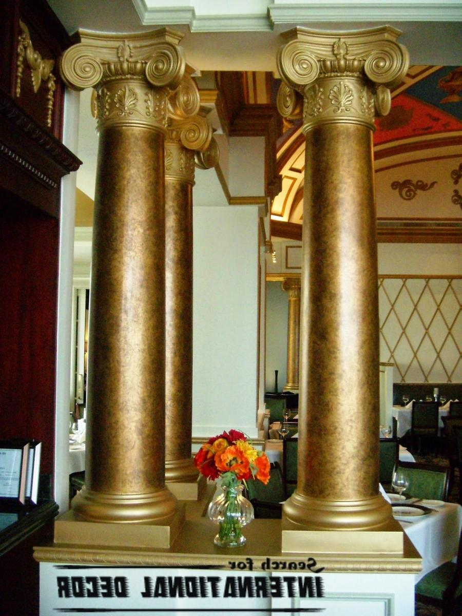 Decorative columns interior photos for Fiberglass interior columns