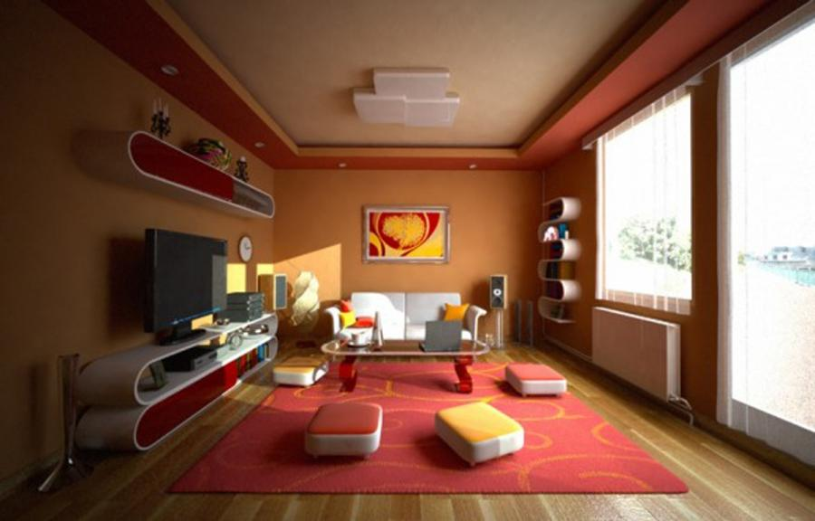 ... Modern House Colors Interior Wallpaper ...