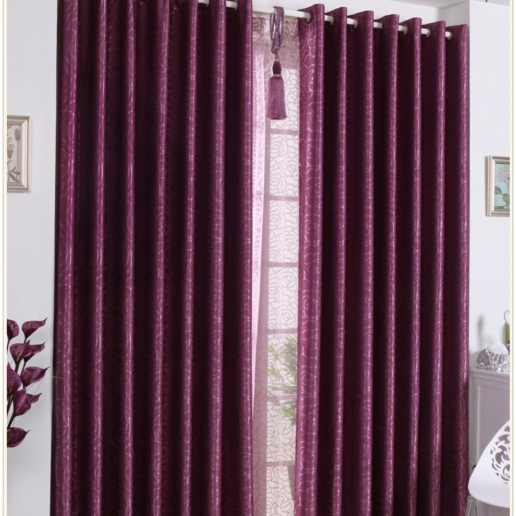 39% High-end Sound Absorption Fuchsia Blackout Curtains (Two...