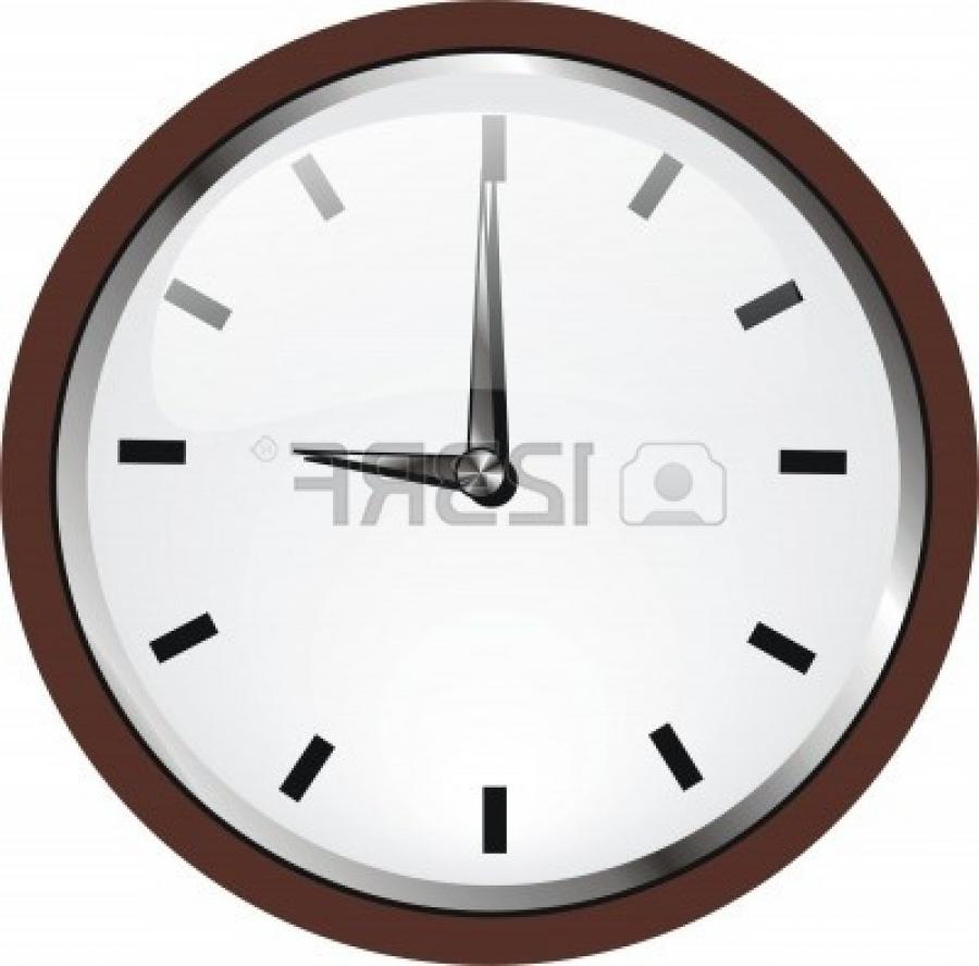 Photo Frame Wooden Wall Clock